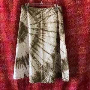 Lucky Brand Festival Short Tie Dye Cotton Skirt